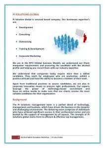 marketing plan template word global staffing rpo business proposal