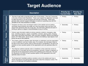 marketing proposal template website proposal target audience
