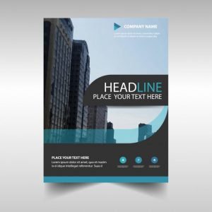 marketing report template light blue abstract corporate annual report template