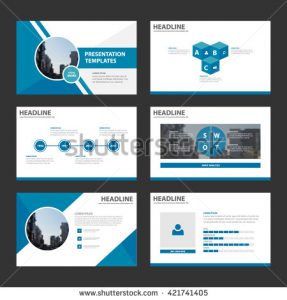 marketing report template stock vector blue multipurpose presentation template flat design set and elements for brochure flyer leaflet