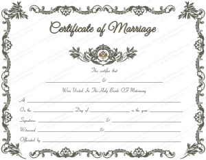 marriage certificate template royal marriage certificate template