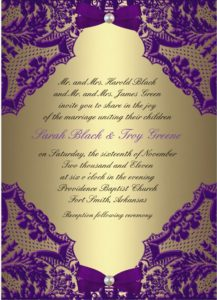 masquerade invitations template free purple and gold wedding invitation
