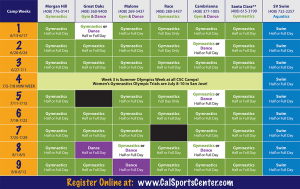 master schedule template camps master schedule