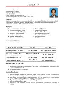 mba resume sample accountant cv