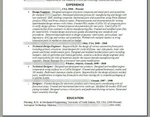 mechanical engineering resumes engineer resume example