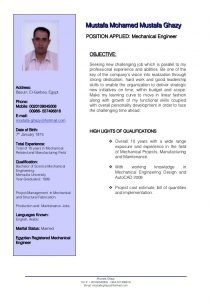 mechanical engineering resumes mechanical engineer cv