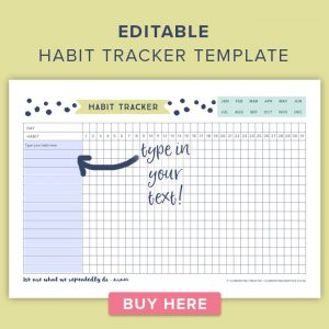 media planner template editable habit tracker template