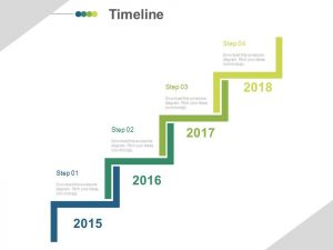 media planning template stair design year based timeline diagram powerpoint slides slide
