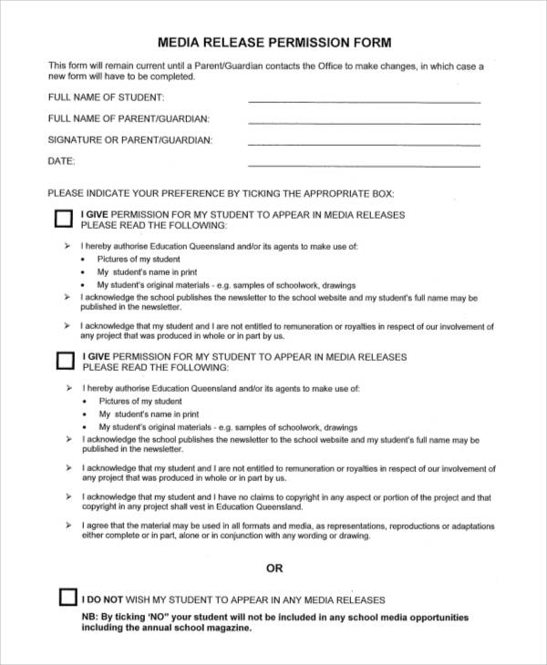 Media Release Form | Template Business