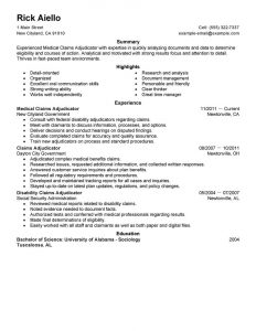 medical administrative assistant resume medical claims adjudicator experienced legal space saver