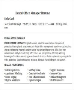 medical assistant resume example dental office manager resume