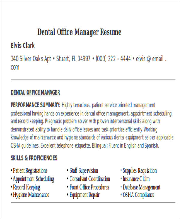 Medical Assistant Resume Example  Office Manager Resume Skills