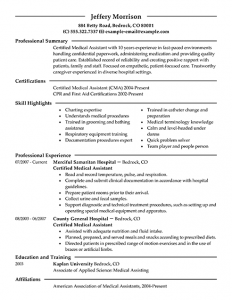 medical assistant resume examples medical assistant resume summary samples