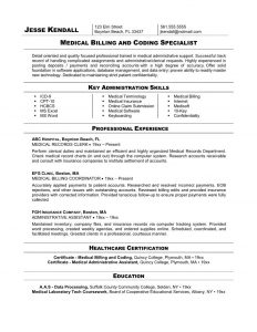 medical assistant resume sample medical billing and coding specialist resume example