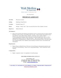 medical assistant resume template job posting template