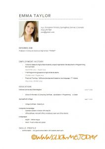 medical assistant resumes english cv example download sample customer service resume english intended for english resume template