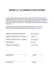 medical authorization form medical authorization form