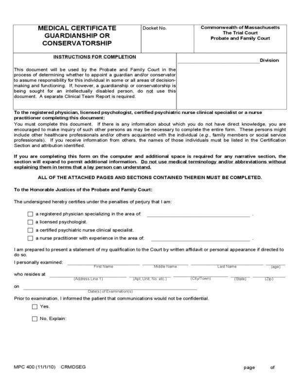 Medical Certificate Forms  Template Business