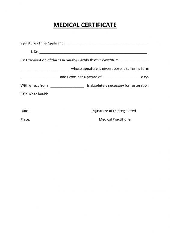medical certification form