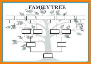 medical chart template blank family tree template