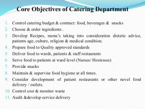 medical chart template catering services in a hospital