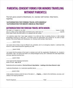 Medical consent form for grandparents template business medical consent form for grandparents child consent traveling without parent altavistaventures Images