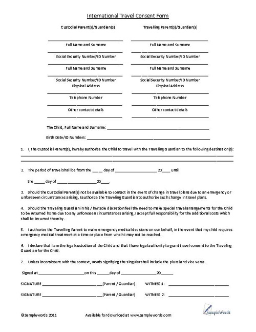 Medical consent form for grandparents template business medical consent form for grandparents thecheapjerseys Image collections