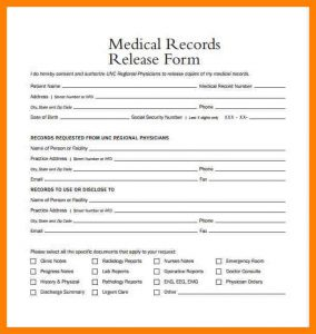 medical cv template medical release form medical records release form example