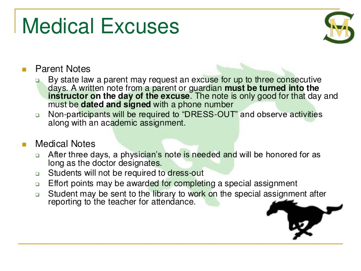 medical excuse notes
