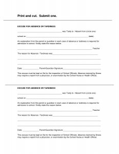 medical excuse notes blank printable doctor excuse form work
