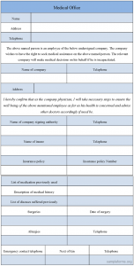 medical form templates medical office form template