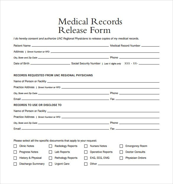 Medical Form Templates  Template Business