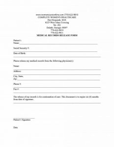 medical records release form medical release form 01 580x751