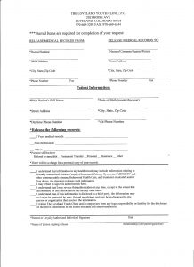 medical records release form records release
