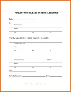 medical records release form template medical records release form template themesclub regarding medical records release form template
