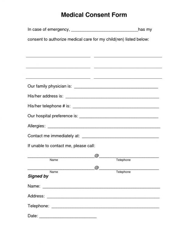 Medical Release Form For Grandparents | Template Business