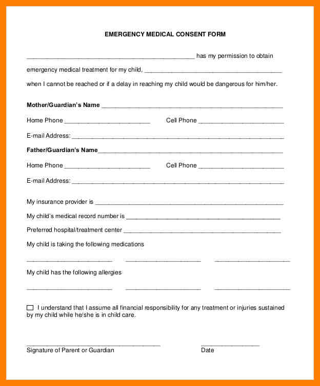 Medical release form for grandparents template business medical release form for grandparents altavistaventures Image collections