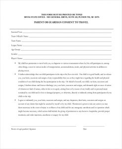 medical release form for grandparents travel consent form for grandparents