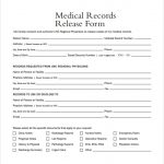 medical release form medical records release form example