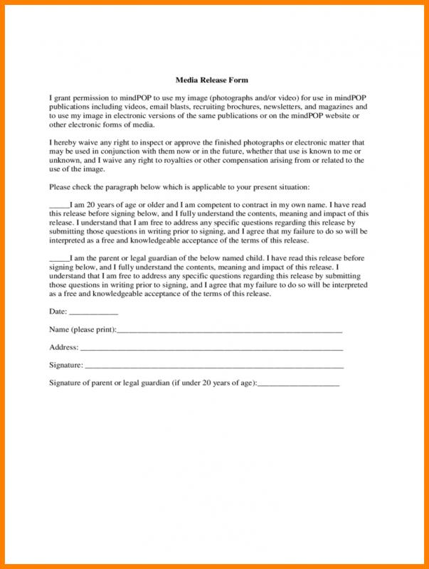 medical release form template