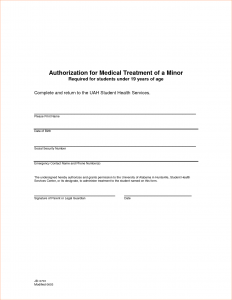 medical release form template medical treatment authorization letter