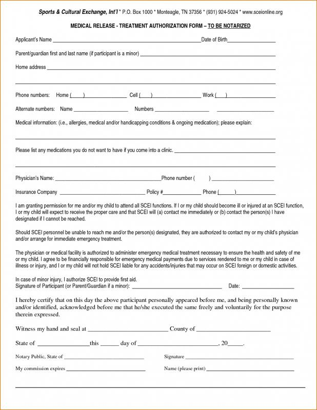 medical release forms
