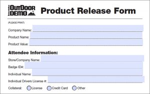 medical release forms product release form