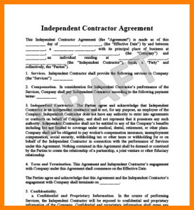 medical report example independent contractor contract independent contractor agreement