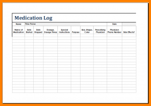 medication list template patient medication list template medication log