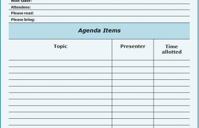 meeting agenda sample meeting agenda templates free