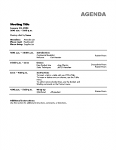 meeting agenda template word meeting agenda template