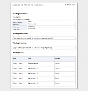 Meeting Agenda Template Word Meeting Agenda Template Word Doc  Agenda Templates In Word