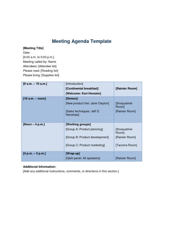meeting agenda templates