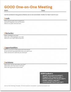meeting agenda templates one on one meetings with employees template